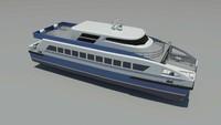 28 catamaran 3d model