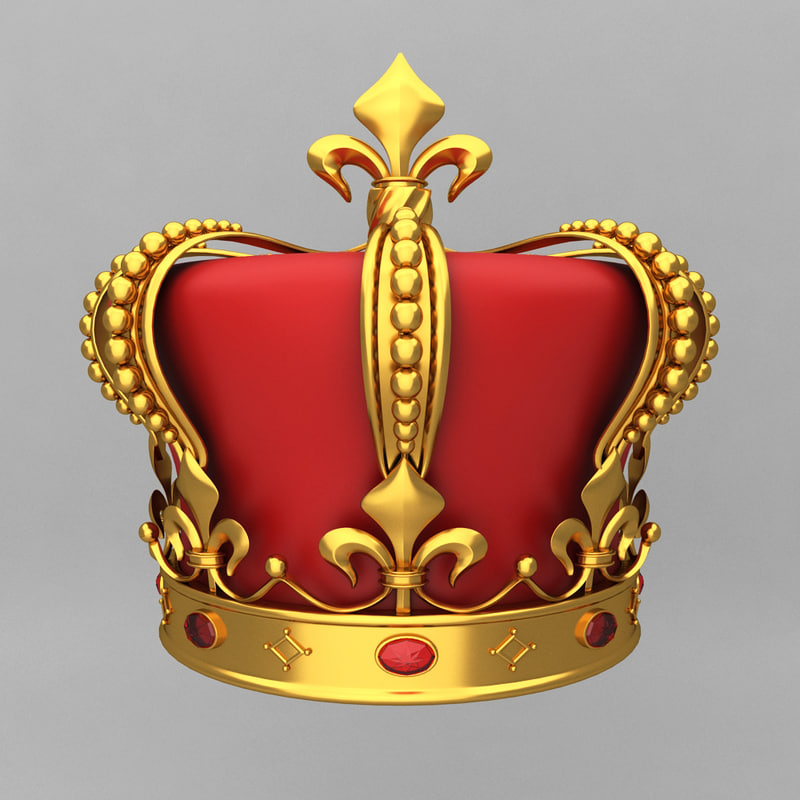 3d crown king ornaments model