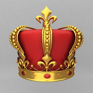3d crown king ornaments model