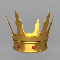 3d crown king ornaments