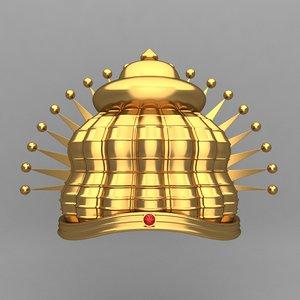 3d model crown king ornaments