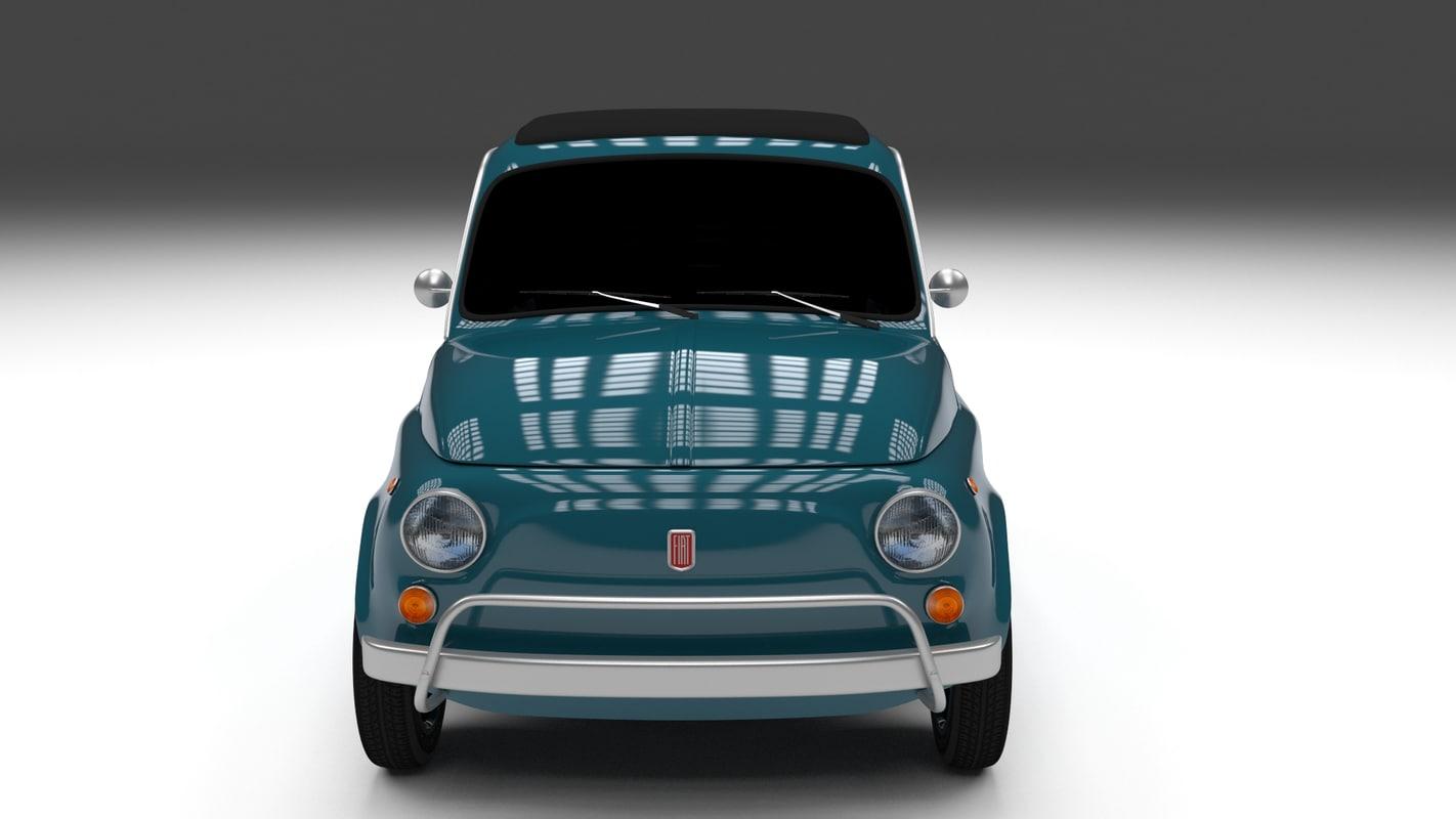 1968 fiat 500l luxe 3d obj