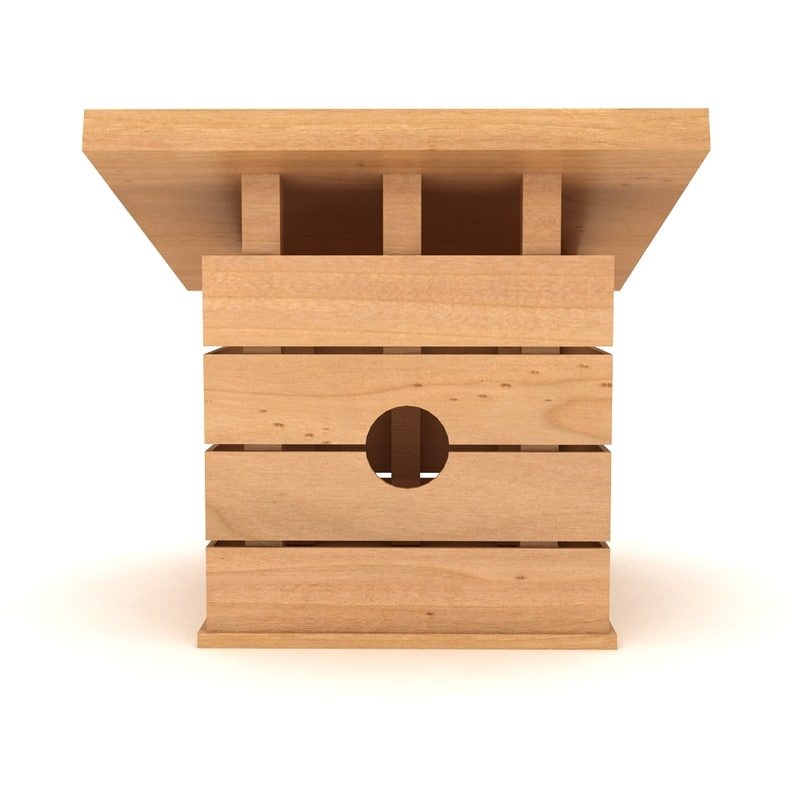 3dsmax birds house