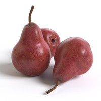 3d red pears