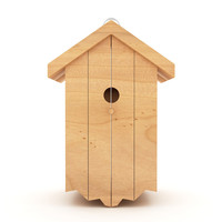 Birds wooden house shelter 4
