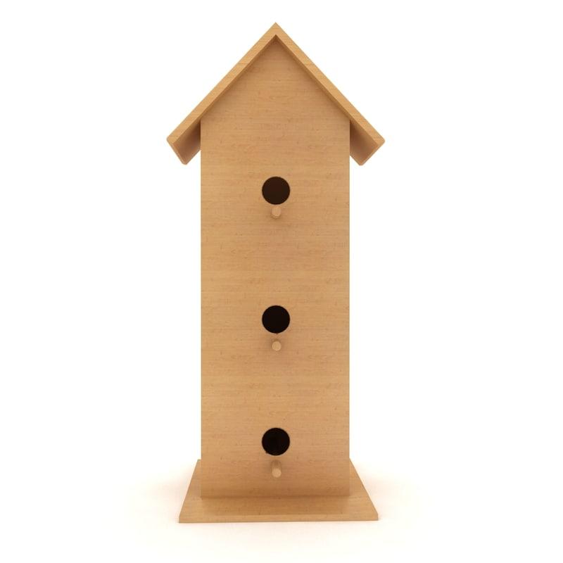 3d birds house shelter model