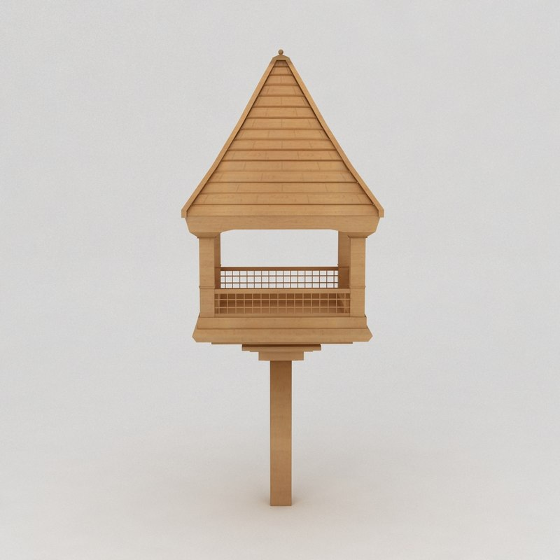 maya birds wooden house shelter