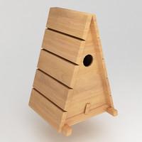 obj birds wooden house shelter