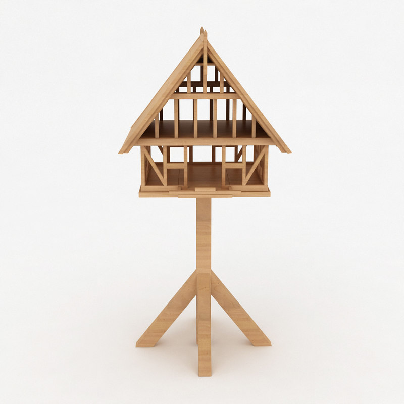 max birds wooden house shelter