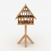Bird wooden house shelter 10