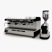 espresso machine cimbali 3d model