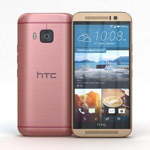 3d htc m9 pink gold model