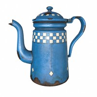 3d model enamel coffee pot