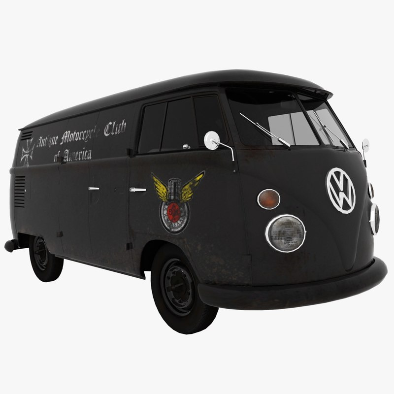 transporter t1 motorcycle club 3d model