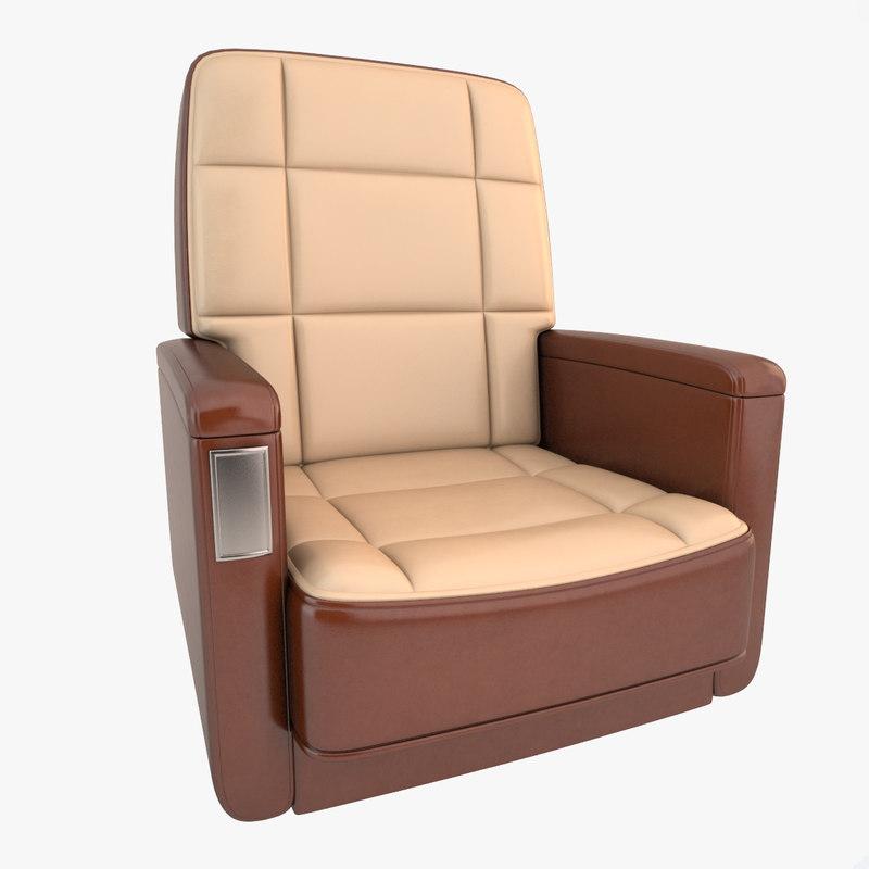 3d model airplane seat