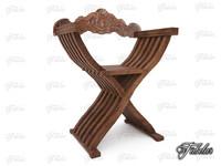 savonarola chair 3d 3ds
