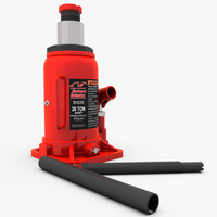 hydraulic bottle jack 3d model