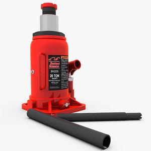 hydraulic bottle jack 3d model