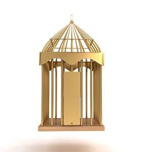 birds metal cage 3d model