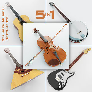 3d stringed musical instruments 5
