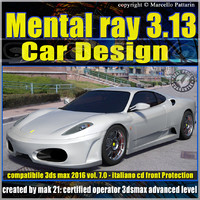 Mental ray 3.13 in 3dsmax 2016 Vol.7 Car Design_cd front
