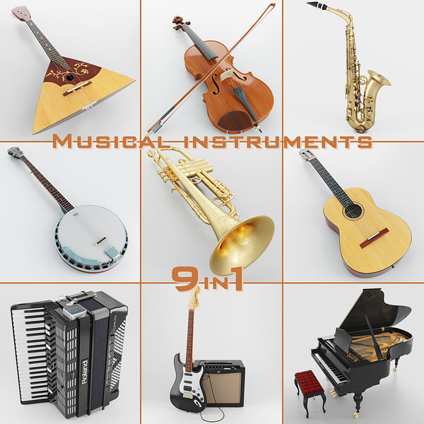 3d musical instruments 9 1