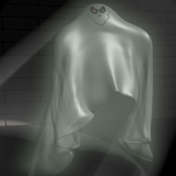 cartoon ghost rigged 3d max