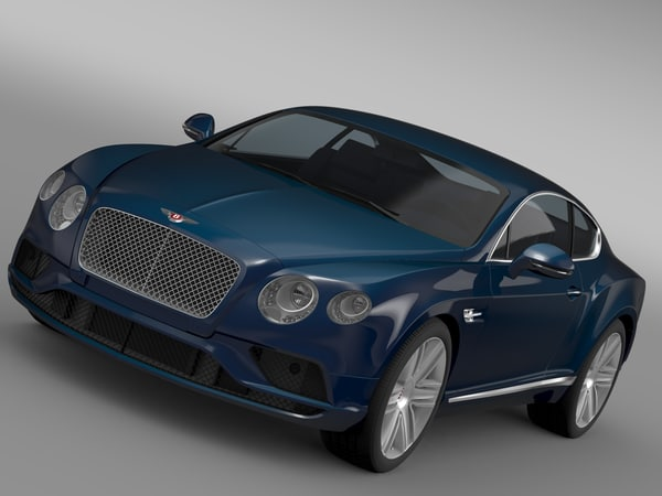 3d bentley continental gt v8 model