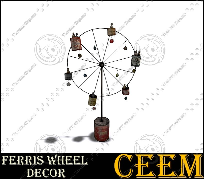 3d ferris wheel decor model