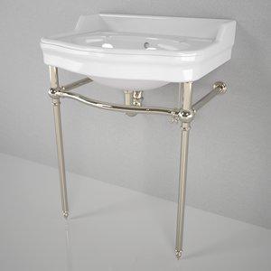 3d waterworks palladio washstand model