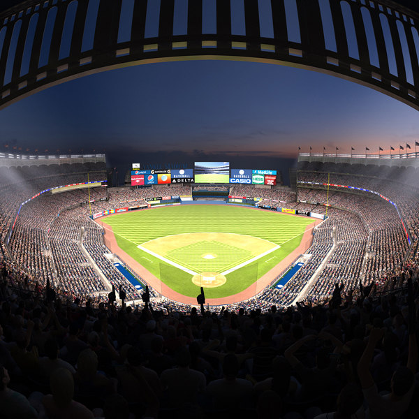 3d yankee stadium audience animations