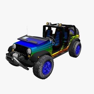 jeep wrangler offroad 3d model