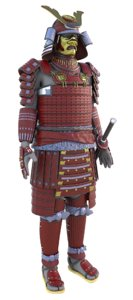 obj japanese samurai armor