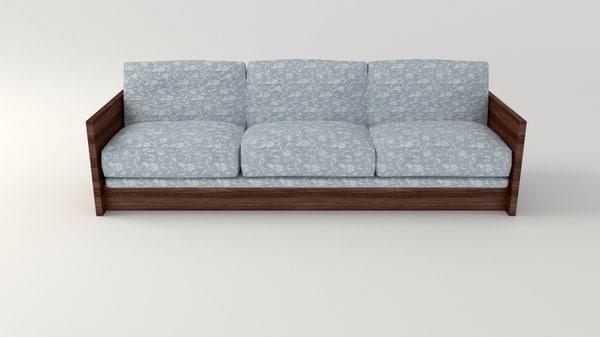 3d sofa retro model