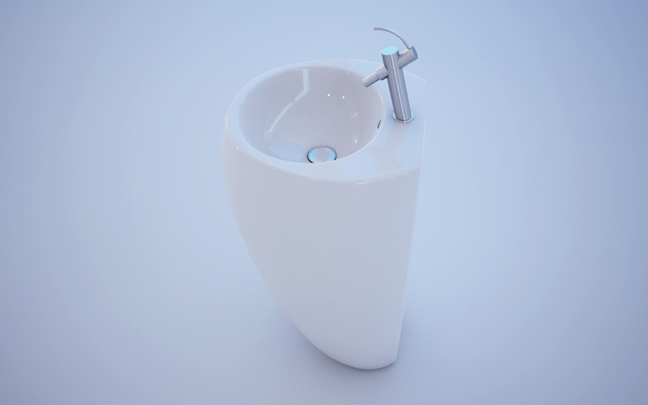 c4d sink wash basin