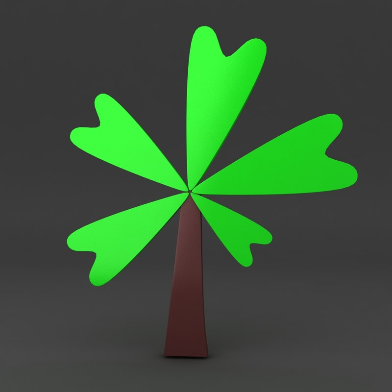3d max cartoon tree