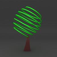 3d cartoon tree