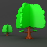 3d model cartoon tree