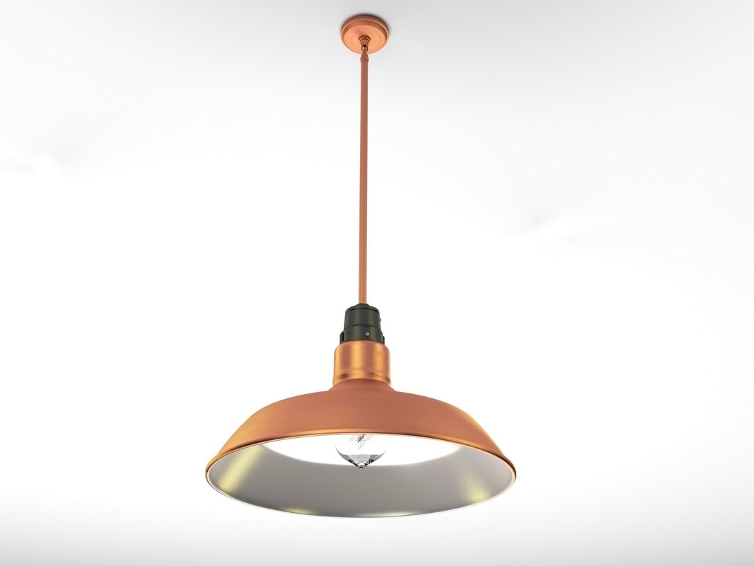 3ds max industrial pendant lamp 2