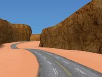 racing tracks - 3d max