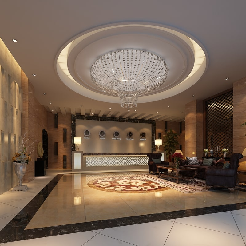 hotel lobby 3d max