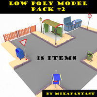 Low poly model pack 2