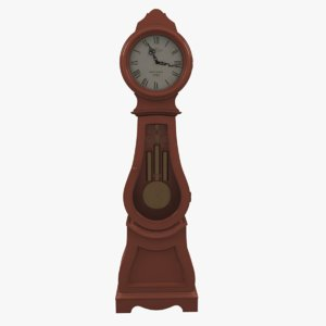 max painted grandfather clock