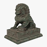 3d model forbidden city lion