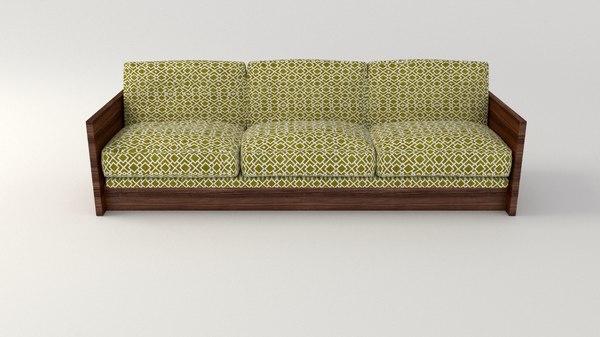 3ds sofa retro