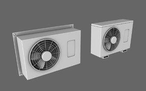 3d air conditioner model