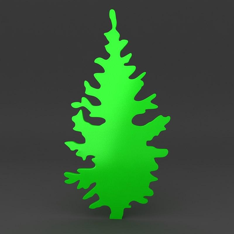 3d model cartoon christmas tree