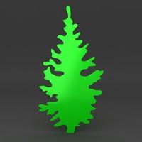 cartoon Christmas tree 1