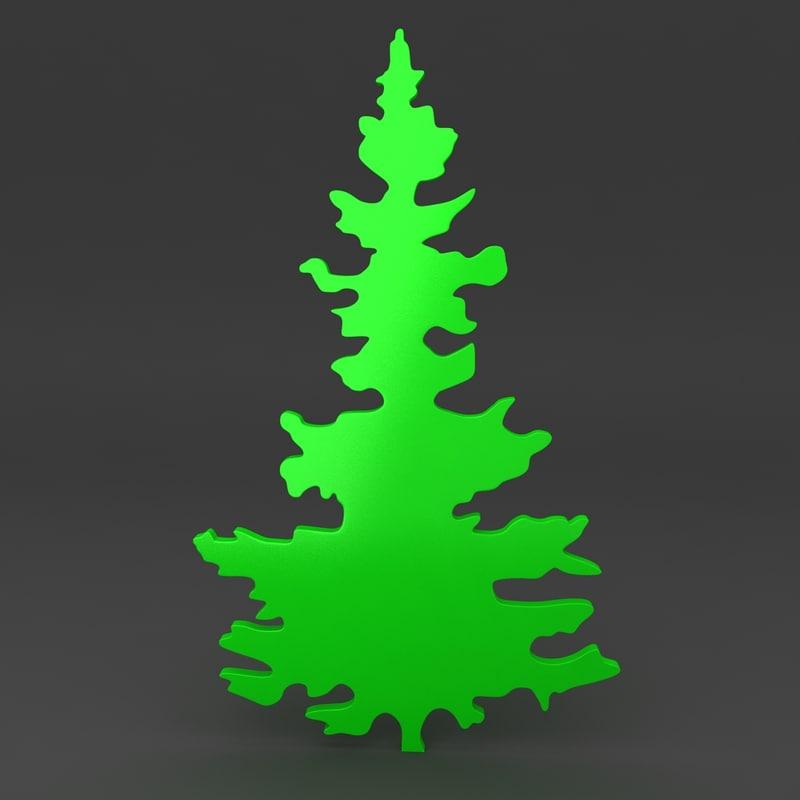 max cartoon christmas tree