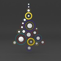 cartoon Christmas tree 3